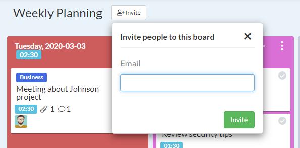 Invite-board